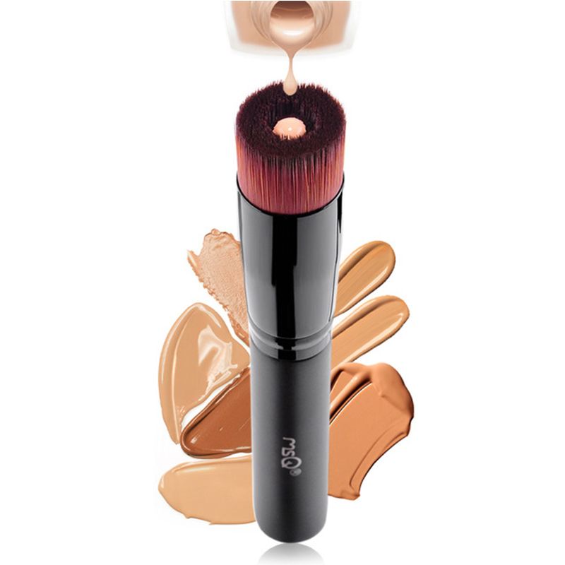 MSQ Cosmetic Single Make up Powder Foundation Brush Blush Angled Flat Top Base Liquid Cosmetic Makeup Brush Tool make up factory blush brush
