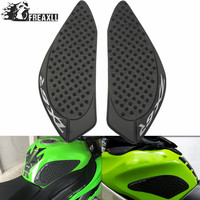 for kawasaki ZX 6R ZX6R 2009 2015 Motorcyce Accessories Motorcycle Tank Sticker Traction Pad Side Knee Grip Protector With Logo