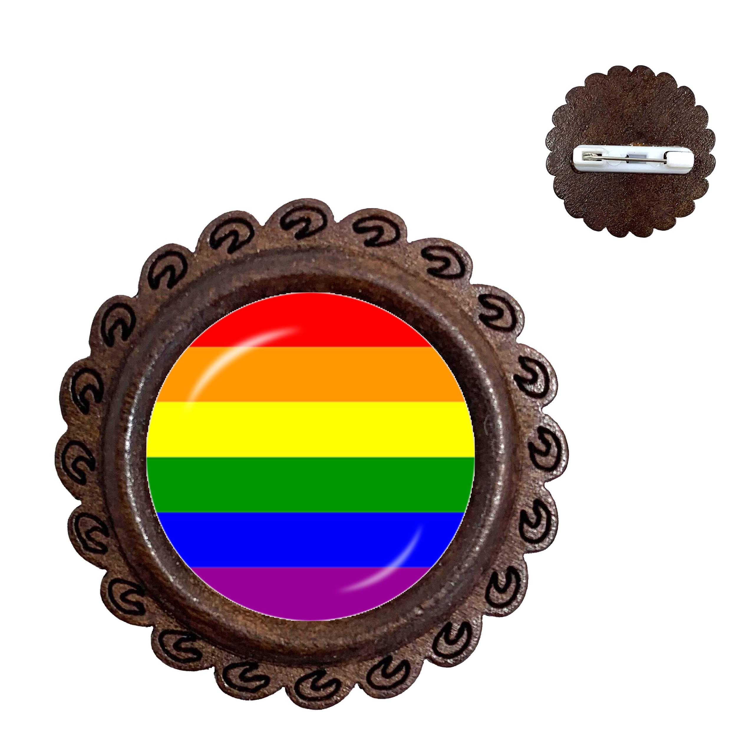 Gay Pride Broches Pins Dezelfde Sex Lgbt Sieraden Homo Lesbische Trots Met Regenboog Liefde Wint Gift Hetzelfde Sex Huwelijk Kraag pins