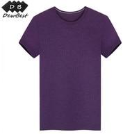 DEWBest Men's 100% Merino Wool Out door Crew T Shirts Lightweight Athletics Summer Breathable Wicking Cool Short Sleeve