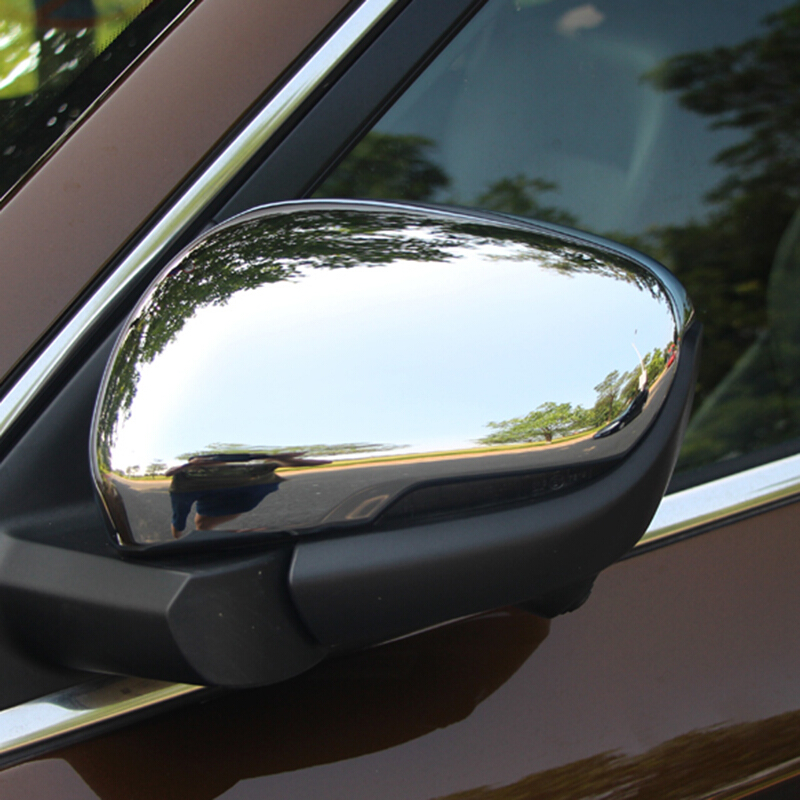 For Geely Atlas 2016 2017 2018 ABS Plastic Chrome Accessories Car Rearview Mirror Block Protection Frame Cover Trim Car Styling Chromium Styling     - title=