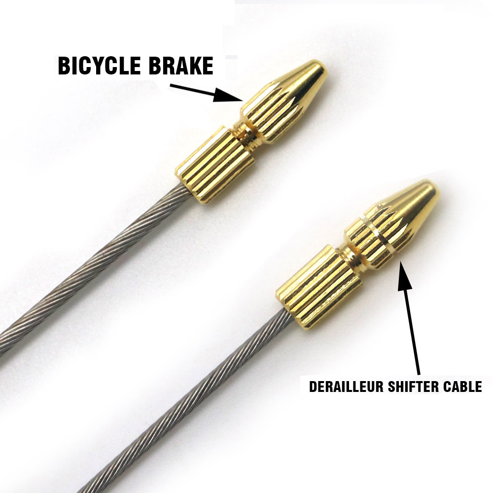 Bike Bicycle Brake Shifter Derailleur Inner Cable Wire End Cap Crimps WFXI