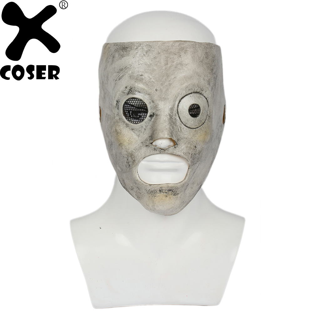 XCOSER Deluxe Slipknot Corey Taylor Mask Latex Mask DJ Star Slipknot Adjustable Mask Cosplay Halloween Costume Prop For Adult