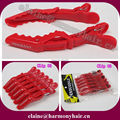 ( 66 pcs/lot ) STOCK RED Aligator Crocodile Hair Clips for Hair Extensions