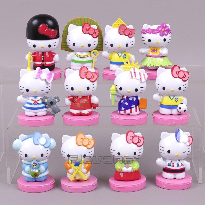 Hello Kitty Toy Car For Girls : Hello kitty mini pvc figures toys car home decoration