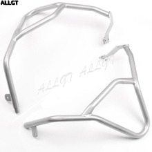 Upper Tank Guard Highway Crash Bar Protectors for BMW F 800 GS ADV 2014 2015 2016 Silver