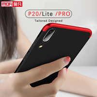 Huawei P20 caso cubierta de protección duro caso de lujo 360 Color negro Huawei P20 Lite caso PRO Huawei P20 cubierta de la Caja