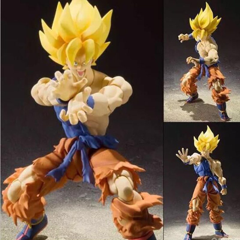 Anime Dragon Ball Z Son Gokou Super Warrior Awakening Ver. PVC Action Figure Collectible Toys 17cm