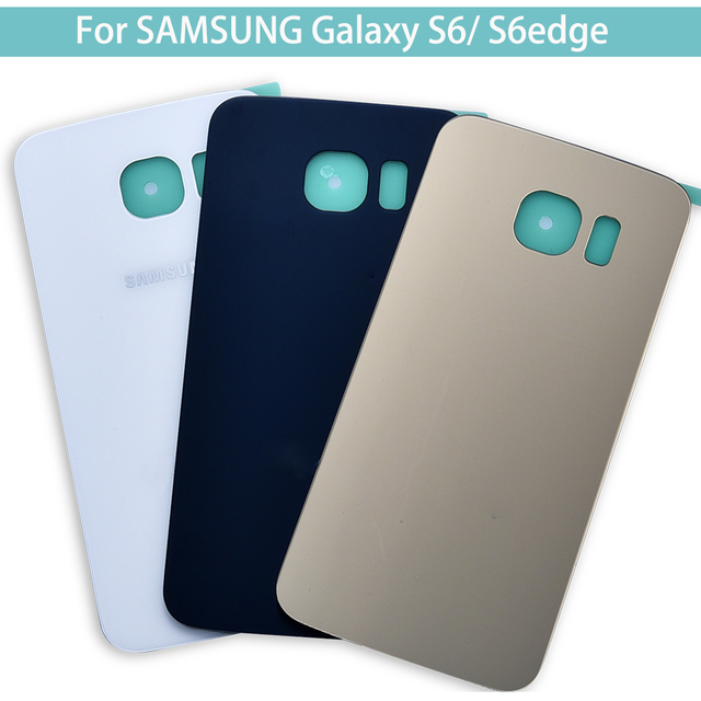 huge selection of 9a5f9 983bf US $2.87 |For SAMSUNG Galaxy S6 S6edge Back Glass Battery Cover Housing  case Replacement For SAMSUNG GALAXY G920F G925F-in Mobile Phone Housings  from ...