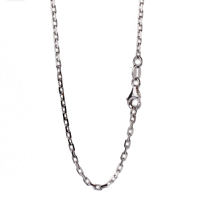 steel item living for cable necklace flat jewelry chain silver lockets stainless glass