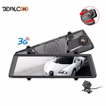 Dealcoo Car DVRs 10″ Dash Cam Full Touch Screen 3G Android GPS Navigators FHD 1080P Dashcam Rearview Mirror Wifi Streaming Media