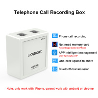 RJ11 Port Landline Telephone Call Recorder Box Voice Logger Automatic Telephone Calls Recording Device with iOS APP for iPhone