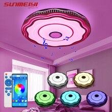 Bluetooth Speaker LED Ceiling Lights Modern Dining room Lamp with Remote control Indoor Lighting For Kitchen Bedroom Living room
