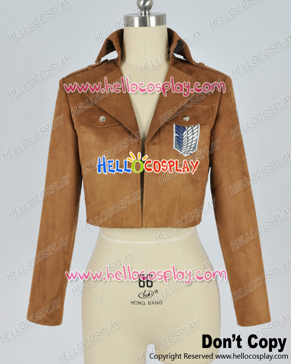 Attack On Titan Shingeki No Kyojin Cosplay Scouting Legion Suede Jacket Costume H008
