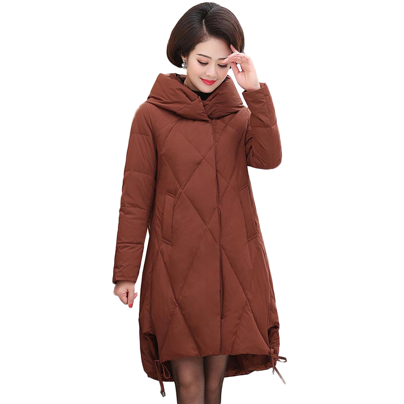 Women's Coat Spring Autumn 2019 winter Hot sale Cotton Thick warm   Parka   Long Plus Size Hooded Women Jacket New Fashion NW1202
