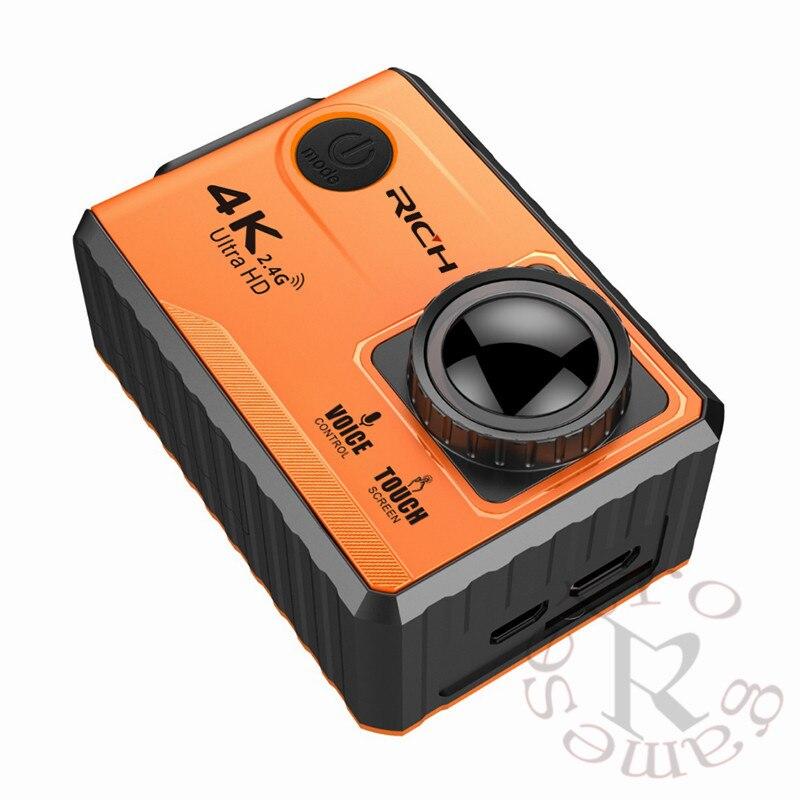 Caméra d'action sportive Ultra HD 4 K 10 pièces avec écran tactile/commande vocale/télécommande/2.4 Ghz WiFi positionnement gratuit APP/GPS