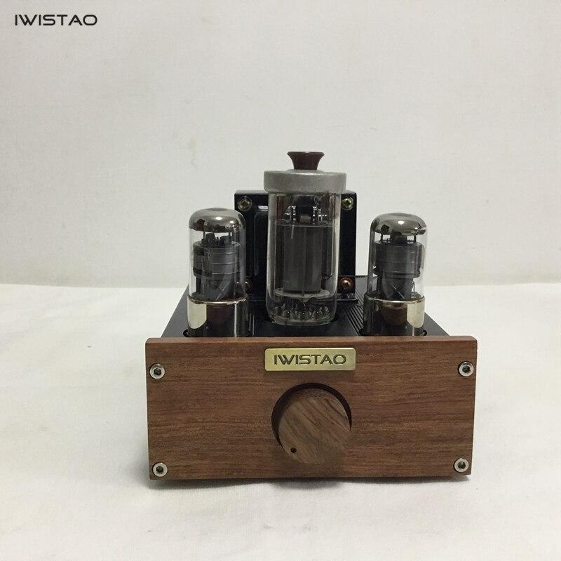 IWISTAO 1pc Mono Tube Amplifier FU50 Class A Signal ended Small 300B 12W Preamplifier 2 x 6J4P HIFI Audio|Amplifier|   - title=
