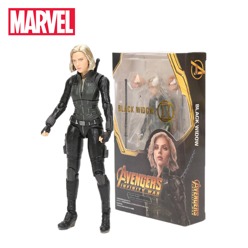 15cm Marvel Toys Avengers Endgame Hawkeye Barton KO Figurine Black Widow PVC Action Figures Collectiable Model Dolls Toy(China)