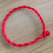 my shape 1pcs Red Lucky Rope Cord String Bracelet Bangle Fashion Friendship Jewelry Findings for Women & Girls 20cm(China)