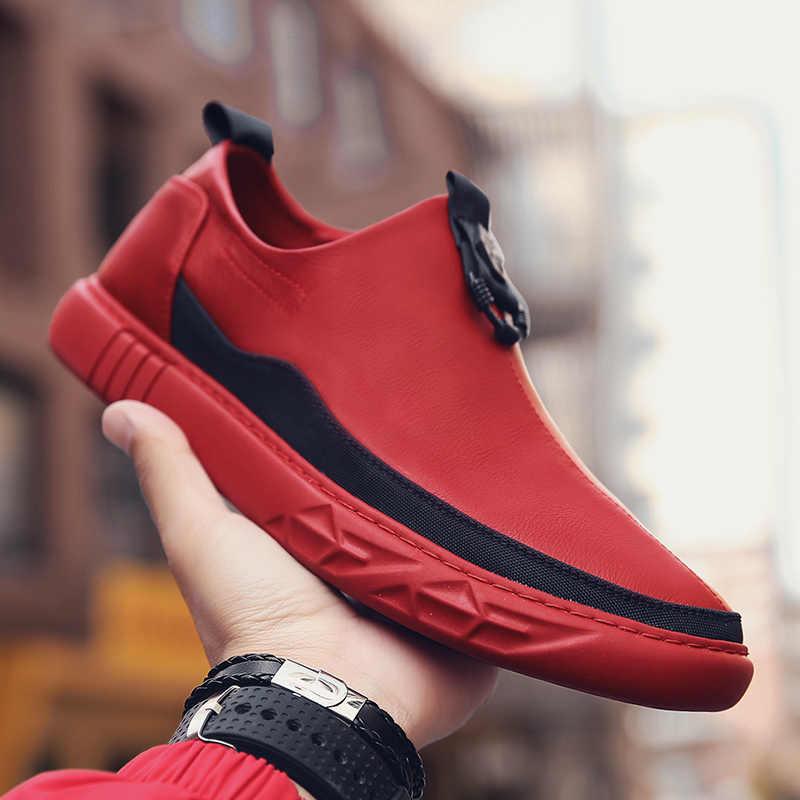 Новая обувь из натуральной кожи, Мужская Брендовая обувь, модная мужская повседневная обувь, мужские кроссовки высокого качества, повседневная обувь, Zapatos De Hombre