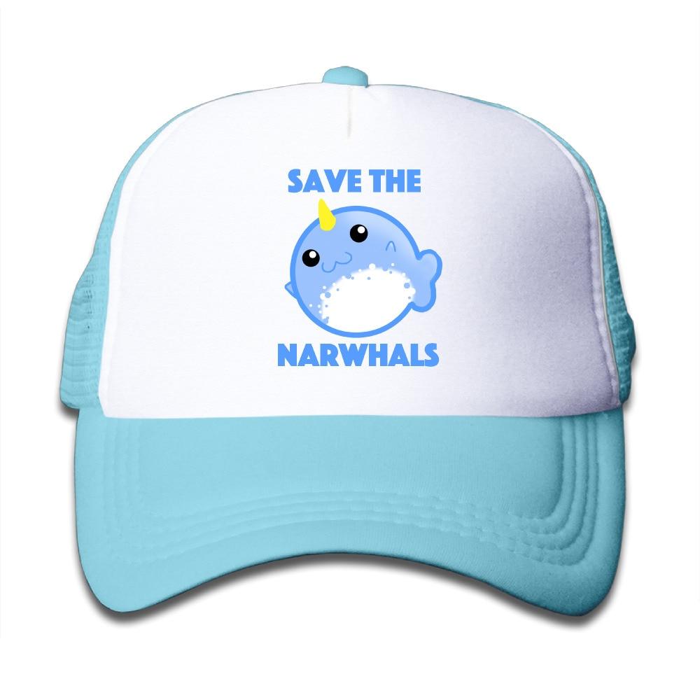 Baseball Cap Tumblr Save the Narwhals Trucker Hats Snapback Children Girls Boys Bone Caps Tumblr Cap