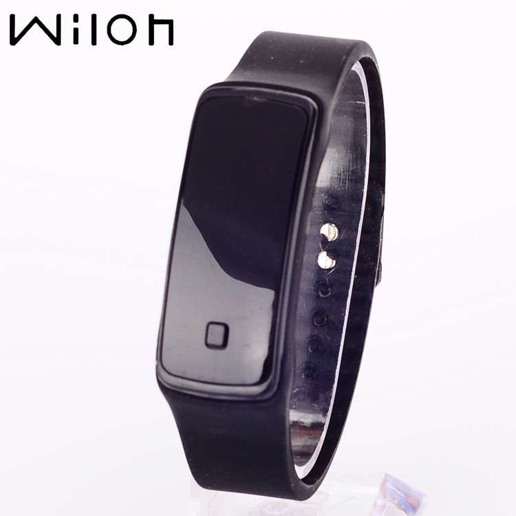 HOT Sale 2019 Hot Fashion Design Touch Screen LED Watch Men&women Wristwatch Sport Candy Color Silicone Children Digital Watches