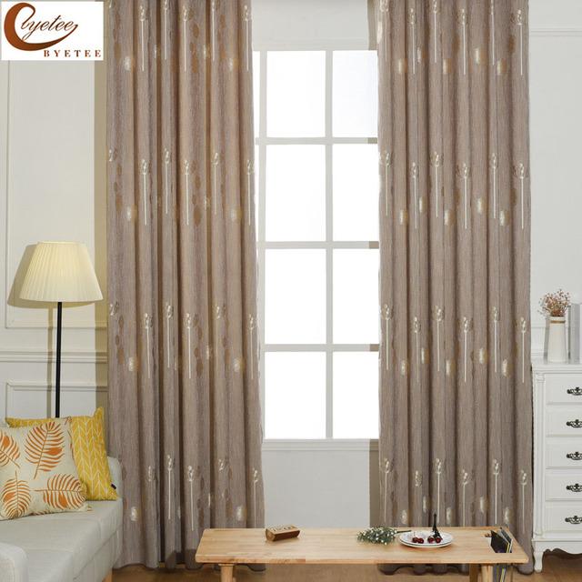 byetee] Modern Window Curtains Drapes Jacquard Curtain For Kitchen ...