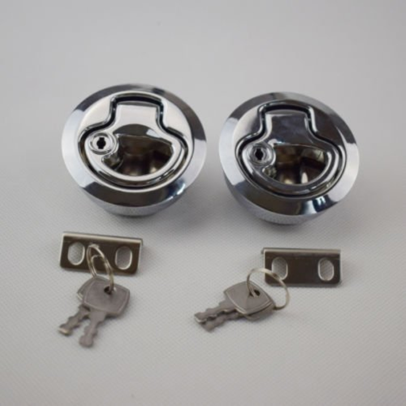 2PCS Flush Pull Hatch Latch Marine Boat bright chrome plated PA-6 US Stock