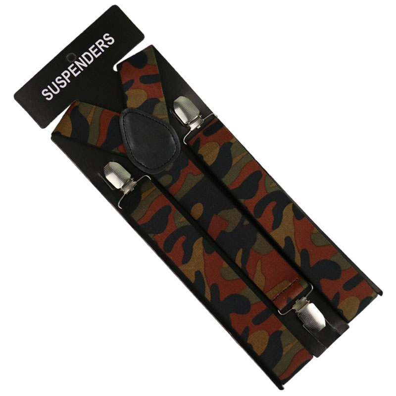 2019 New 3.5cm Wide Vintage  Male Military Camouflage Suspender Men Braces Outdoor Straps Suspenders
