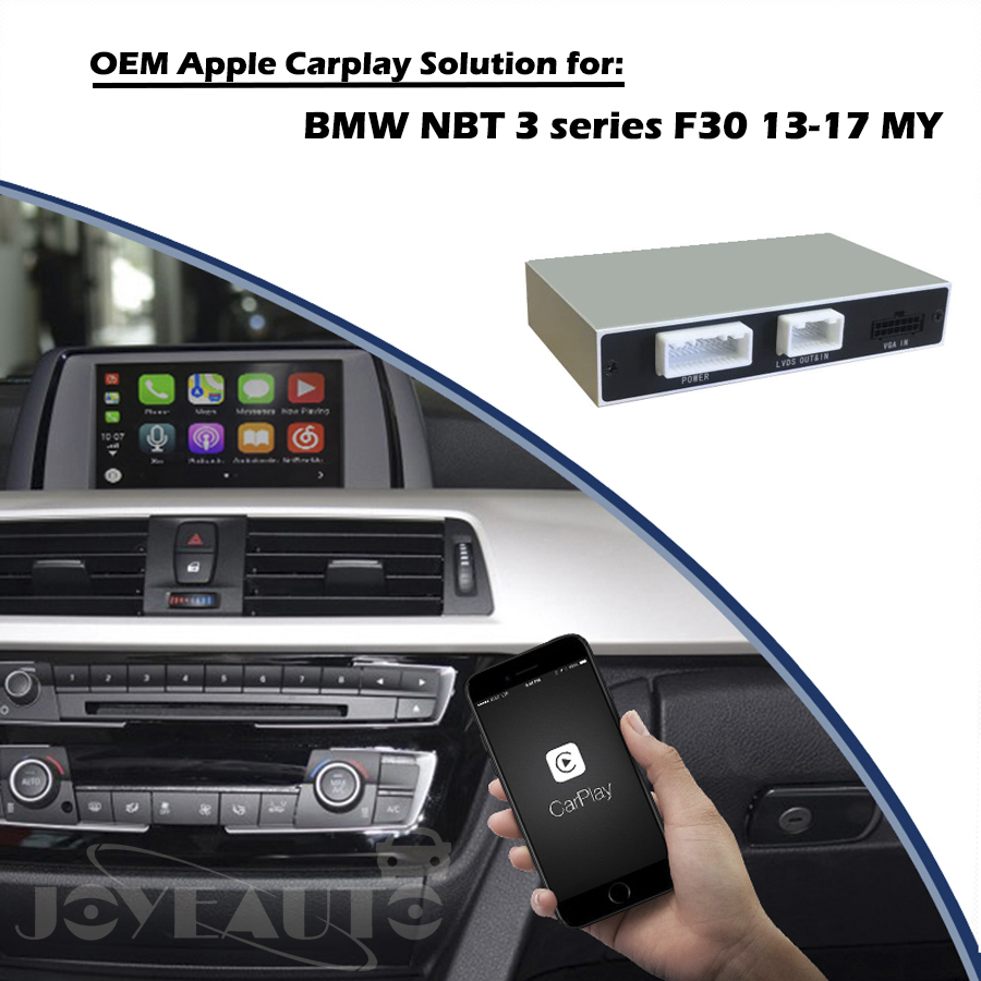 Aftermarket CarPlay Interfaccia F30 NBT OEM di Apple Carplay Android Auto Soluzione Retrofit Scatola per BMW con Videocamera vista posteriore