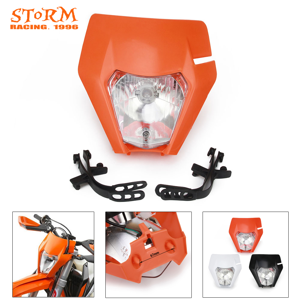 Universal Motorcycle Headlight Head Lamp Light For KTM EXC EXCF XC XCF XCW XCFW MX EGS SX SXF SXS SMR 125 250 300-500 Dirt Bike