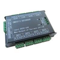Высокая Мощность 24 канала 3A/CH DMX512 контроллер светодиодный декодер диммер dmx 512 RGB Светодиодные ленты контроллер dmx-декодер диммер драйвер для