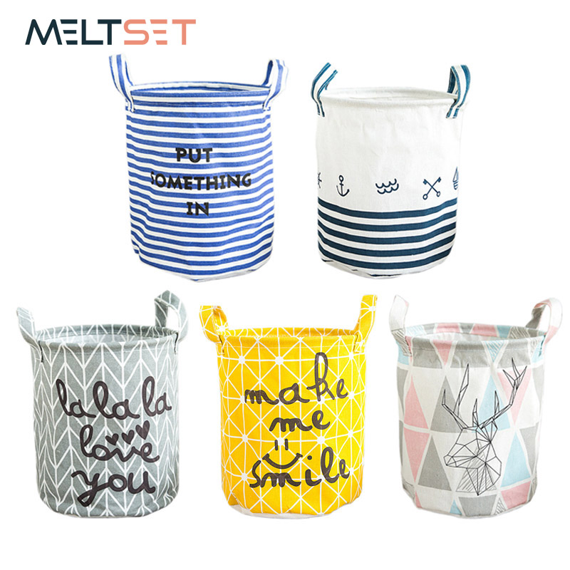23 * 26cm New Dirty Clothes Storage Basket For Toys Folding Diverse Undertøy Laundry Basket