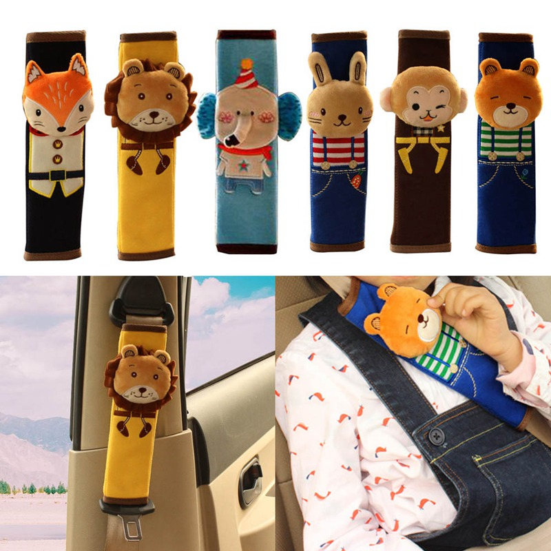 Children Cartoon Safety Seat Belt Shoulder Pads Cute Plush Seat Harness Shoulder Pad Car Auto Pillow Padding Seat Belt цена