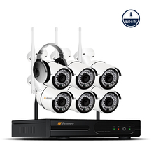 6CH 1080P 1MP HD NVR Wireless Outdoor Security Kit CCTV IP Camera System Audio Record Camara Wifi Video Surveillance Kits Wi-fi
