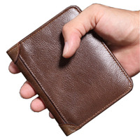 Brand 100 Top Quality Natural Genuine Leather Men Wallets Fashion Splice Dollar Purse Carteira Masculina Mens
