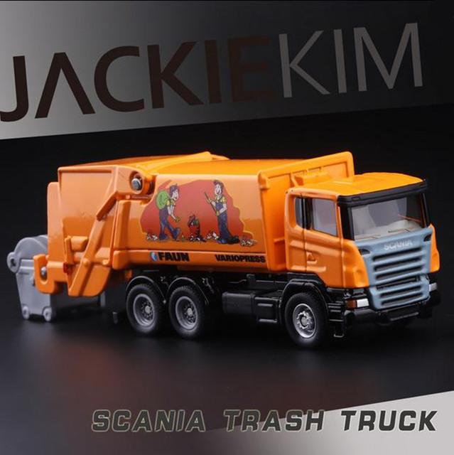 1: 87 vehículos de construcción de aleación, alta simulación camión de la basura, SIKU1890 metal fundido a presión juguetes, juguetes educativos del envío libre