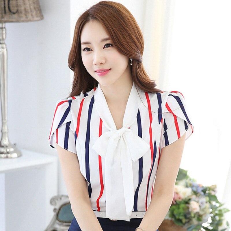 Beauty Lady divatos csíkos sifon blúz Plusz méretű S-3XL - Női ruházat