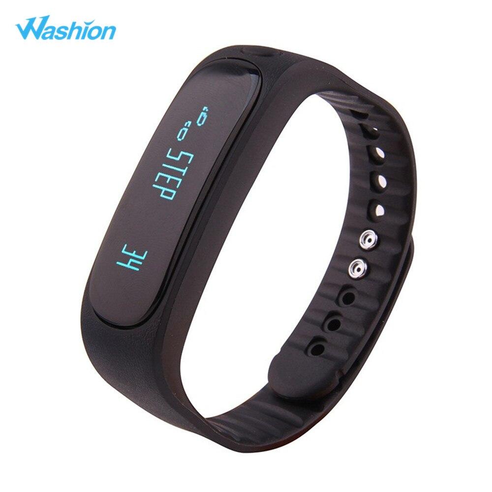 Washion E02 Waterproof Bluetooth Smart Bracelet Activity Tracker Call SMS Remind Passometer Alarm Clock Sports Wristband