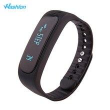 Washion E02 Водонепроницаемый Bluetooth Smart Браслет, трекер активности вызова/sms напомнить шагомер будильник спортивный браслет