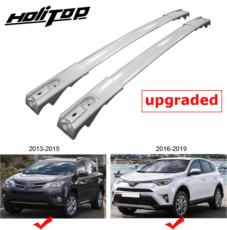 hot roof bar horizontal rail cross bar for Toyota RAV4 2013 2019 upgraded version 7075 class