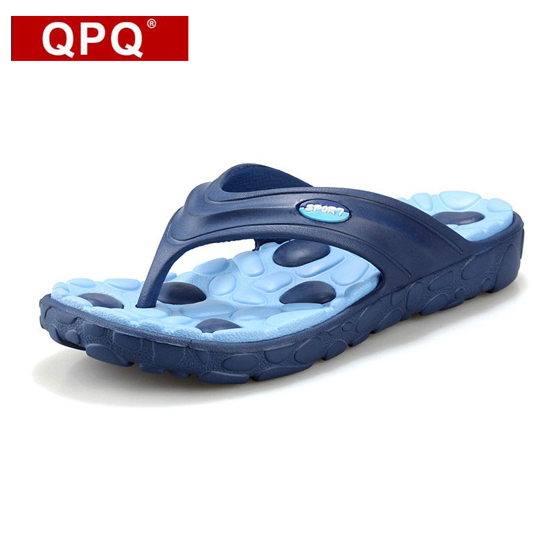 QPQ Hot Sale authentic New Summer Fashion Flip Flops Men Sandals Male Flat Massage Beach Slippers men Loafers shoe free shipping hot sale free shipping 2015 new men s summer sandals