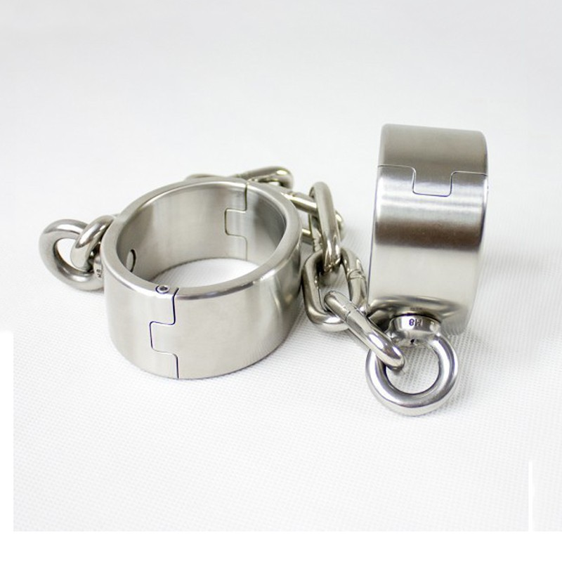 stainless steel leg irons female ankle cuffs metal bondage restraints shackles sex bdsm fetish women sex products for adults metal leather bondage harness leg irons ankle cuffs adult games bdsm fetish slave restraints sex toys shackles sex products