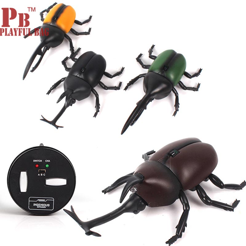 Wireless Remote Control Beetle Electronic Insect Animal Creative Gift New Exotic Toy Simulation Animal Series Electronic Pets
