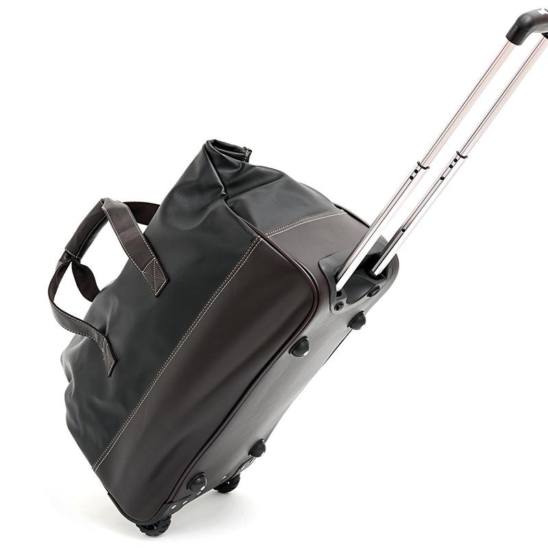 2019 Neue Frauen Klassische Trolley Gepäck Roll Koffer Handtasche Mädchen Marke Casual Wilden Trollye Tasche Einkaufen Gehen Mit Räder Dinge Bequem Machen FüR Kunden
