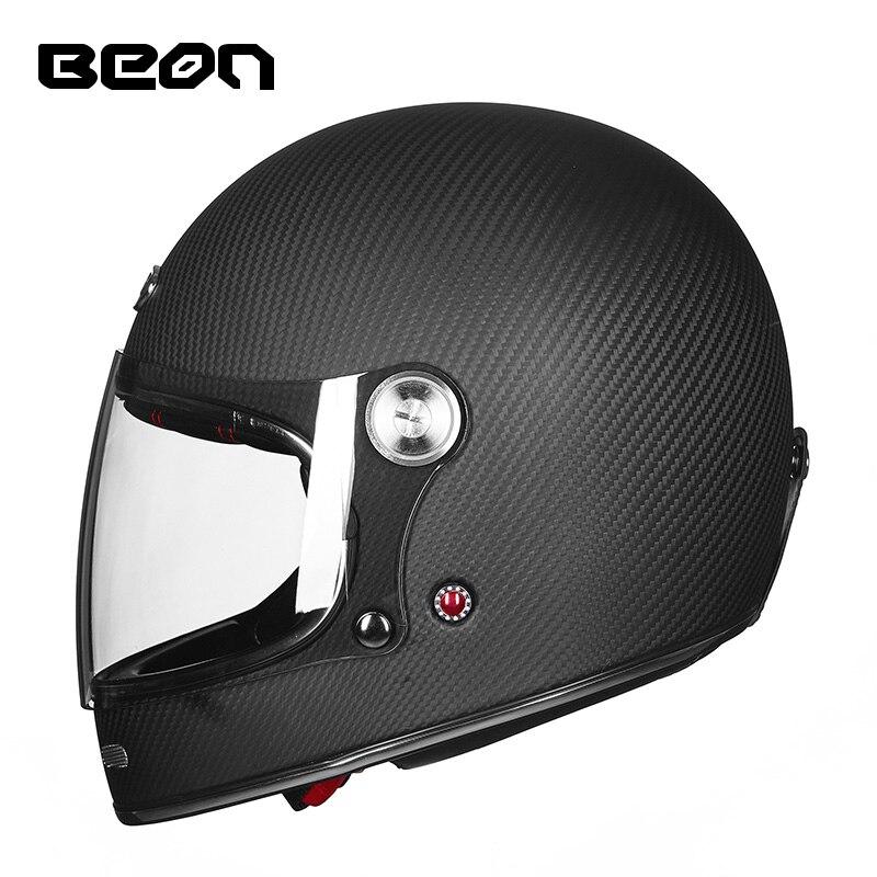 BEON Full Face Carbon Fiber Motocross Motorcycle Helmet Men Women Full Cover Off road Racing Moto