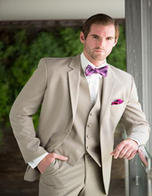 2017 Latest Coat Pant Designs Ivory Beige Wedding Men Suit Slim Fit 3 Piece Prom Blazer Custom Bridegroom Tuxedo Terno Masculino