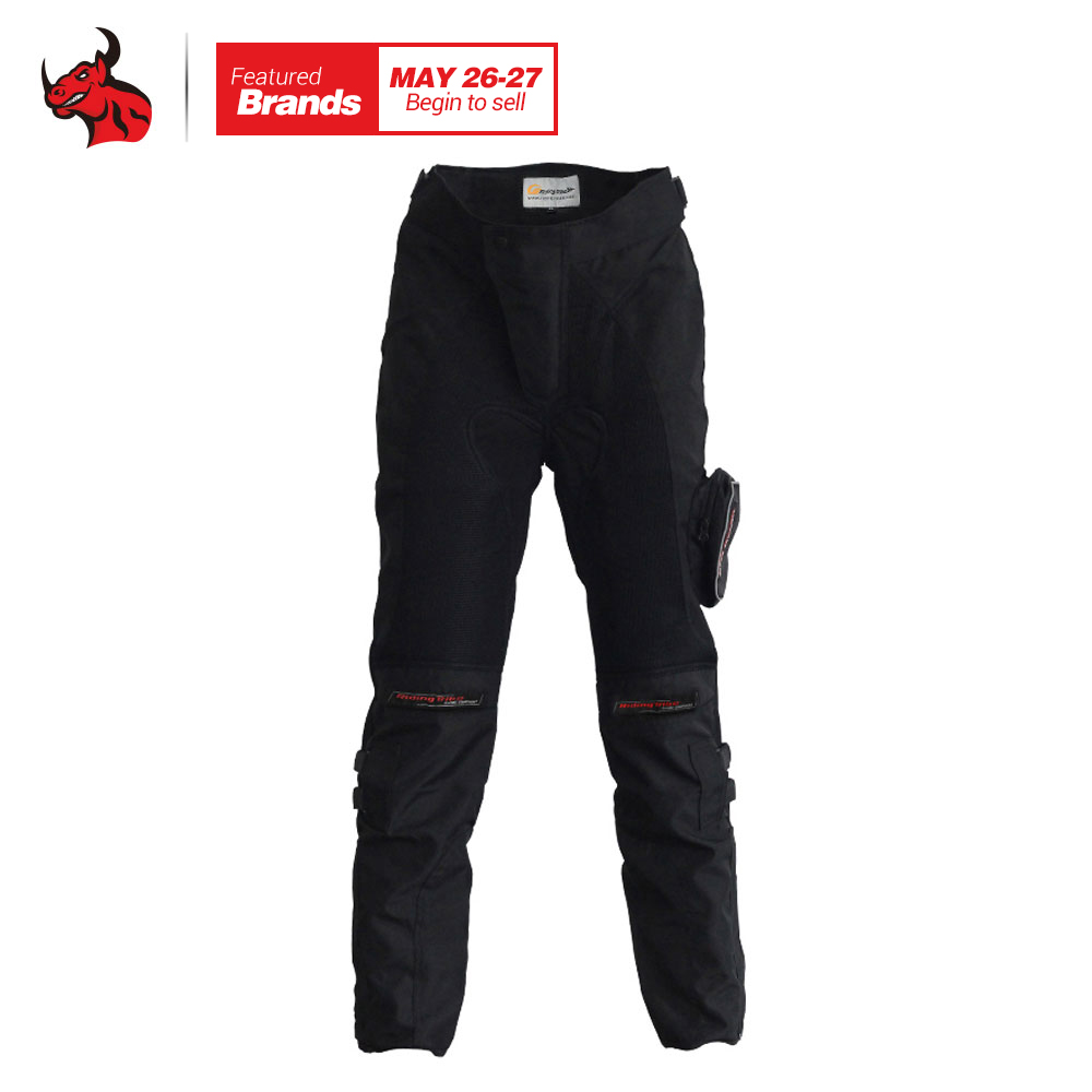 Riding Tribe Moto Pants Motorcycle Racing Long Pants Black Moto Motocross Protective Motorbike Off-Road Riding Pants Trousers