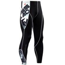 Новая мода, мужские компрессионные штаны, 3D принт, быстросохнущие обтягивающие леггинсы, колготки для фитнеса, ММА, штаны, сшитые тоузеры