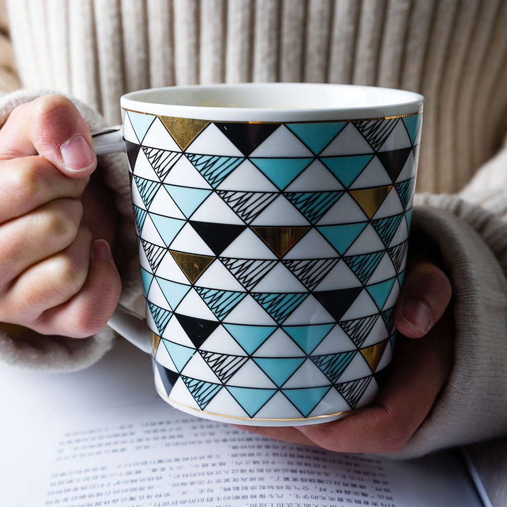 european cup office coffee. 1pc 450ml European Style Diamond Shaped Ceramic Mugs Household Mug With Lid Couple Cups Office Coffee Cup-in From Home \u0026 Garden On Aliexpress.com Cup A